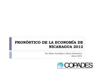 PRON STICO DE LA ECONOM A DE NICARAGUA 2012