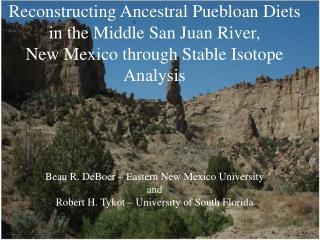 Reconstructing Ancestral Puebloan Diets in the Middle San Juan River,  New Mexico through Stable Isotope Analysis