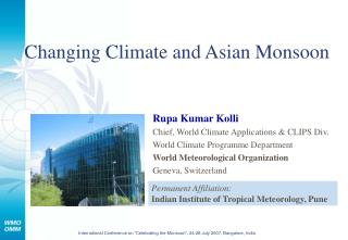 Changing Climate and Asian Monsoon