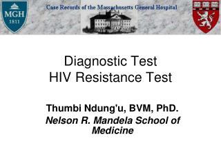 Diagnostic Test HIV Resistance Test