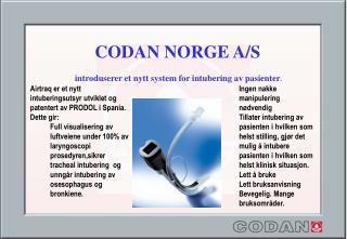 CODAN NORGE A