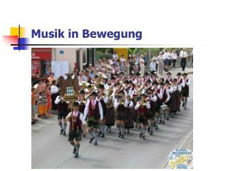 Musik in Bewegung