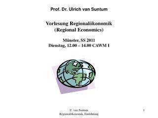 Prof. Dr. Ulrich van Suntum