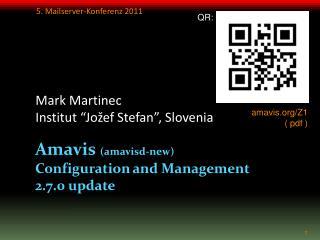 Amavis amavisd-new Configuration and Management 2.7.0 update