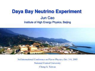 Daya Bay Neutrino Experiment