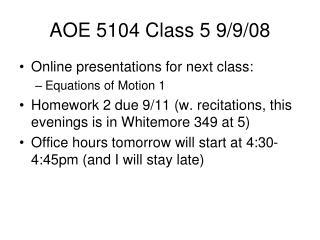 AOE 5104 Class 5 9
