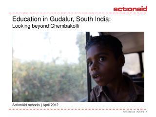 ActionAid schools    April 2012    1