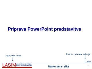 Priprava PowerPoint predstavitve
