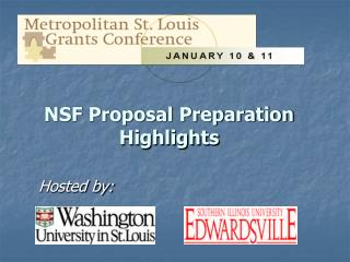 NSF Proposal Preparation  Highlights
