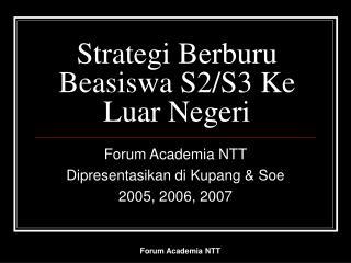 Strategi Berburu Beasiswa S2