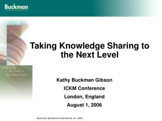 Taking Knowledge Sharing to the Next Level