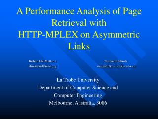 A Performance Analysis of Page Retrieval with HTTP-MPLEX on Asymmetric Links
