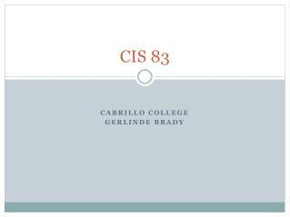 CIS 83