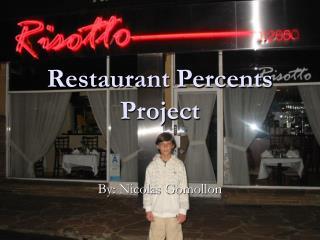 Restaurant Percents Project