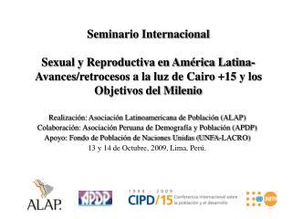 Seminario Internacional  Sexual y Reproductiva en Am rica Latina- Avances
