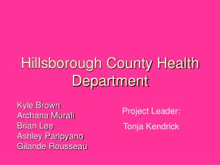 Hillsborough County Health Department