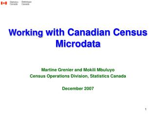 Working with Canadian Census Microdata