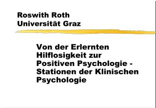 Roswith Roth Universit t Graz