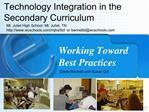 Working Toward  Best Practices