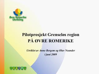Pilotprosjekt Grensel s region P   VRE ROMERIKE  Utviklet av Anne Bergem og Olav Neander  i juni 2009