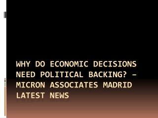 Why do economic decisions need political backing? – Micron A