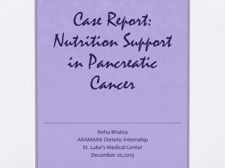 Cancer and Parenteral Nutrition