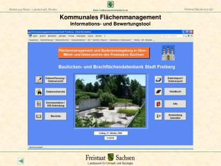 Kommunales Fl chenmanagement Informations- und Bewertungstool