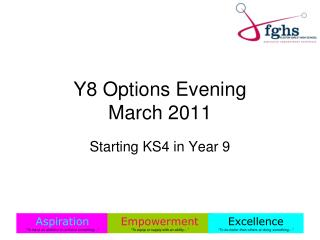 Y8 Options Evening March 2011
