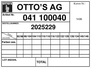 OTTO S AG
