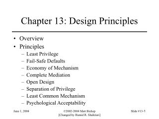 Chapter 13: Design Principles