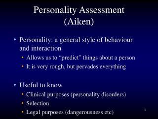 Personality Assessment Aiken