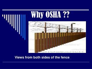 Why OSHA