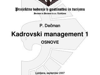 1. KADROVSKO INFORMACIJSKI SISTEM