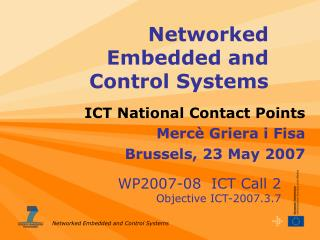 Networked Embedded and Control Systems