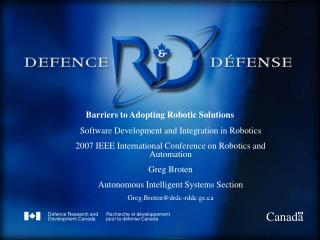 Barriers to Adopting Robotic Solutions