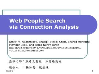 Web People Search