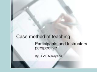 Case method of teaching