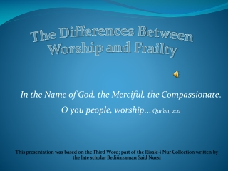 In The Name Of God The Merciful The Compassionate