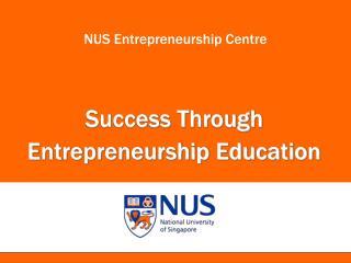 NUS Entrepreneurship Centre