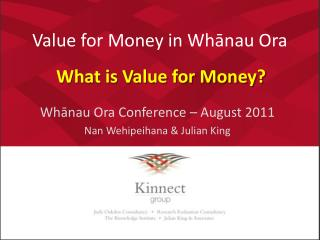 Value for Money in Whanau Ora