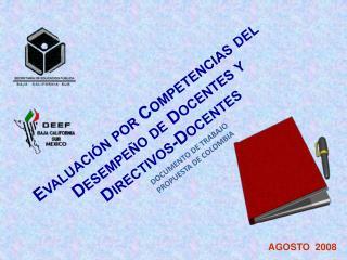 Evaluaci n por Competencias del Desempe o de Docentes y  Directivos-Docentes