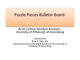 Puzzle Pieces Bulletin Board