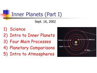 Inner Planets Part I