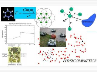 Physicomimetics for  Swarm Formations and Obstacle Avoidance