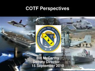 Bill McCarthy Deputy Director    15 September 2010