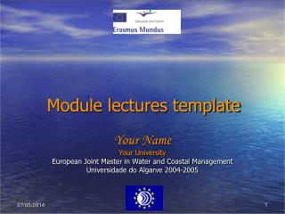 Module lectures template