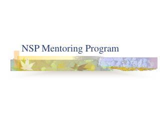 NSP Mentoring Program