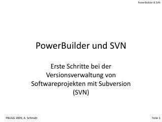 PowerBuilder und SVN