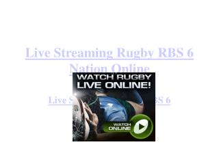 Live RBS 6 Nation Rugby Online England vs Wales Streaming
