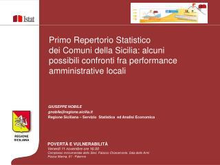 Primo Repertorio Statistico dei Comuni della Sicilia: alcuni possibili confronti fra performance amministrative locali